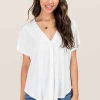 Lush Pleated Cupro Top