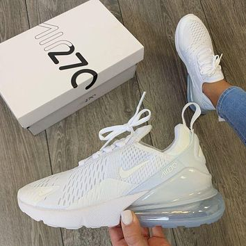 Nike Air Max 270 White Sneaker Fashion casual shoes