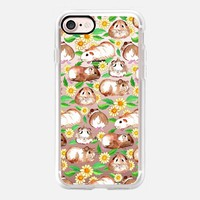 Guinea Pigs and Daisies in Watercolor on transparent iPhone 7 Case by Micklyn Le Feuvre   Casetify