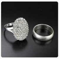"Twilight Breaking Dawn ""Bella's"" Engagement Ring and Wedding Band Set:Amazon:Toys & Games"