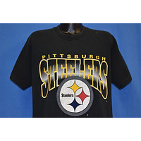 90s Pittsburgh Steelers Logo NFL Football t-shirt Extra Large