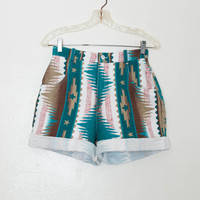 southwest denim shorts - S