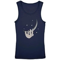 Sloth Hanging from the Moon Crescent Youth Girls Tank Top