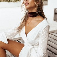 Xaria Tie Playsuit - Playsuits by Sabo Skirt