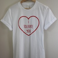 I Tolerate You White Graphic Top