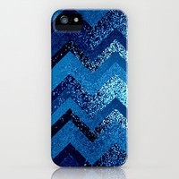 sparkly and dark blue adventure iPhone Case by Marianna Tankelevich