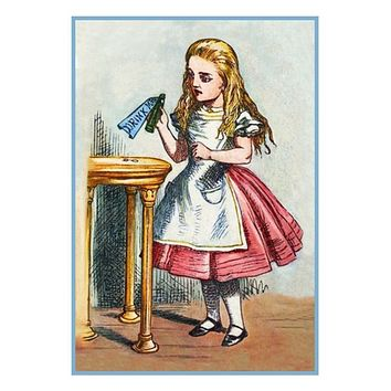 Alice From Alice in Wonderland by Sir John Tenniel Counted Cross Stitch Pattern
