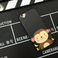 Cute monkey phone case for iphone 7 7 plus 5 5s SE 6 6s 6plus 6s plus + Nice gift box! -LJ001