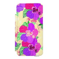Cream Hibiscus - iPhone 5/5S Wallet Case Incipio Watson™ iPhone 5 Wallet Case