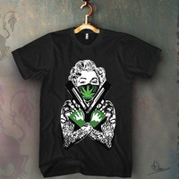 Monroe Guns and Weed Unisex T-shirt Funny and Music
