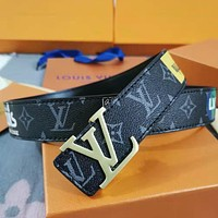 Women Men Fashion Smooth Buckle Belt Leather Belt