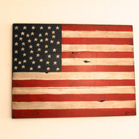 Wooden American Flag Sign, Custom Sign, Handmade Sign, Fourth of July Sign