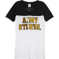 ARMY Bling Athletic Yoke V-neck Tee - PINK - Victoria's Secret