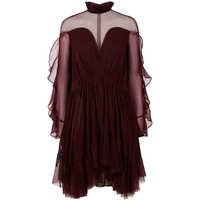 Jonathan Simkhai Silk Frilled Victoriana Neck Dress | Harrods.com