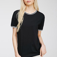 Varsity-Striped Ringer Tee
