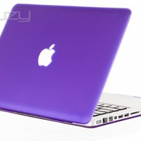 """Kuzy - PURPLE 13-inch Ultra Slim Rubberized Hard Case Light Weight Matte Cover for MacBook Pro 13.3"""" (A1278 with or without Thunderbolt) Aluminum Unibody - Purple"""