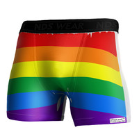 Rainbow Horizontal Gay Pride Flag Boxer Brief Single Side All Over Print by