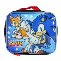 Sonic the Hedgehog and Tails Lunch Bag-box-tote-school