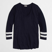 Factory varsity-stripe swing tee : AllProducts | J.Crew Factory