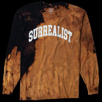 Altru Apparel SURREALIST custom bleached black long sleeve tee