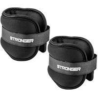 Stronger Adjustable Ankle Weights Set (2x2lbs Cuffs) - Professional Fitness Equipment for Women - At Home Workout Equipment for Calves and Glutes