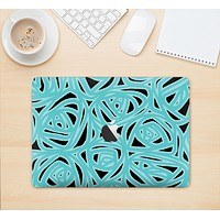 """The Vector Subtle Blues Pattern Skin Kit for the 12"""" Apple MacBook (A1534)"""