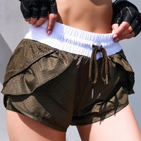 Women Breathable Mesh Yoga Shorts Training Sportwear Jogging Cycling Fitness Workout Short Athletic Workout Gym Clothes