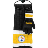 Pittsburgh Steelers Scarf & Glove Gift Set