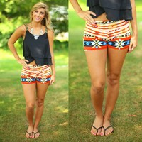 Burning Bridges Patterned Shorts