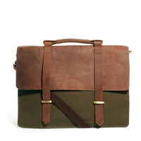 ASOS Canvas And Leather Satchel
