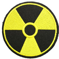 """BIOHAZARD Nuclear Zombie Sign Iron On Embroidered Patch 3""""/7.5cm"""