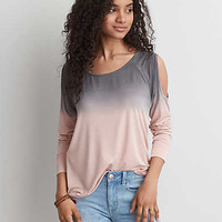 AEO Soft & Sexy Cold Shoulder T-Shirt, Light Pink