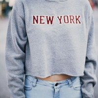 NANCY NEW YORK PATCH SWEATSHIRT