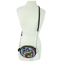 Liquor Brand Rockabilly Sailor Anchors Aweigh Tattoo Inspired Mini Clubbing Crossbody Purse