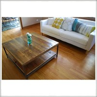 Reclaimed wood coffee table | custom woodwork | recycled furniture
