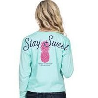 """Simply Southern """"Pineapple"""" Long Sleeve Shortie SALE"""