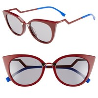 Women's Fendi 52mm Cat Eye Sunglasses
