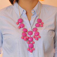 NEW  Bubble NecklaceHandmade Bib by luckynecklace on Etsy