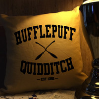 Hufflepuff quidditch harry potter throw pillow cover
