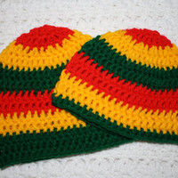 Rasta Baby Beanie 0-3, 3-6, 6-12 Months Baby Shower Gift, Infant, Perfect Photo Prop- Save for a follow!