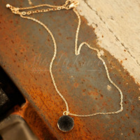 THE TAYLOR DRUZY NECKLACE IN BLACK