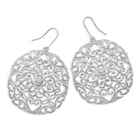Silver Plated Cut Out Heart Design Fashion Earrings