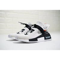 OFF-WHITE x Pharrell x adidas NMD Hu Race Trail ¡°OW White¡± Running Shoes BB7725