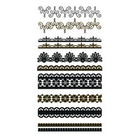 Metallic Temporary Lace Bracelet Tattoo Pack Gold Combo One Size For Women 25396507901