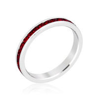 Stylish Stackables with Ruby Crystal Ring