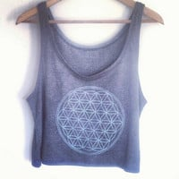 Flower of Life Crop Top, Sacred Geometry Clothing