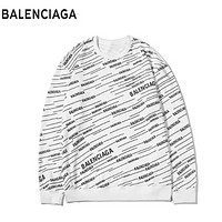 Balenciaga Fashion New More Letter Print Women Men Long Sleeve Top Sweater White