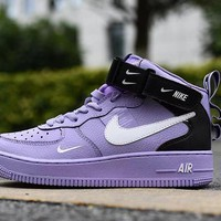 Air Force 1 07 LV8 Utility Purple Black White High - Best Deal Online