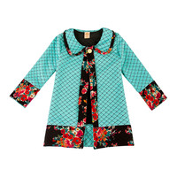 Floral Knit Trench Coat