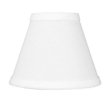 """6""""W x 5""""H Chandelier White Linen Clip-On Lampshade"""